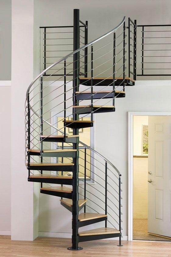 metal spiral stairs. Black Bedroom Furniture Sets. Home Design Ideas
